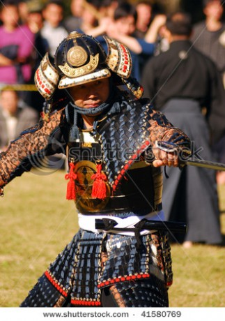 stock-photo-tokyo-japan-november-a-samurai-ready-to-fight-during-a-festival-of-the-birthday-of-emperor-41580769
